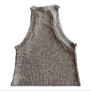 Charlotte Russe cropped sweater halter top